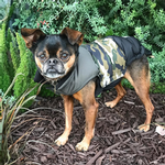 View Image 2 of Camo Colorblock Puffer Dog Coat by fabdog®