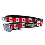 View Image 1 of Canada Maple Leaf Metal Latch Dog Collar by Cycle Dog