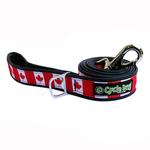 View Image 1 of Canada Maple Leaf Pup Top Dog Leash by Cycle Dog