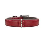 View Image 1 of Canadian Elk Leather Dog Collar by HUNTER - Chili/Mocha