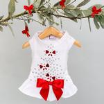 View Image 1 of Holiday Sparkle Dog Dress by Hello Doggie - White