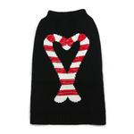 View Image 1 of Candy Cane Dog Sweater by Dogo - Black