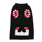 View Image 2 of Candy Cane Dog Sweater by Dogo - Black