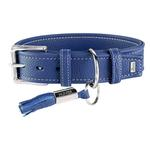 View Image 1 of Cannes Leather Dog Collar by HUNTER - Blue