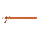 View Image 2 of Cannes Leather Dog Collar by HUNTER - Orange