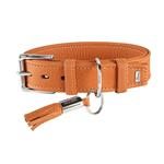 View Image 1 of Cannes Leather Dog Collar by HUNTER - Orange