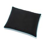 View Image 1 of Canvas Outdoor Dog Futon by Up Country - Black with Aqua Trim