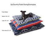 View Image 2 of Canvas Outdoor Dog Futon by Up Country - Black with Aqua Trim