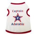 View Image 1 of Captain Adorable Dog Tank - White