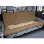 View Image 3 of Car Cuddler Dog Seat Cover - Brown