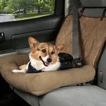 View Image 4 of Car Cuddler Dog Seat Cover - Brown