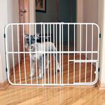 View Image 1 of Carlson Tuffy Expandable Dog Gate with Small Pet Door