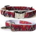 View Image 1 of Ziggy Dog Collar and Leash Set by Diva Dog
