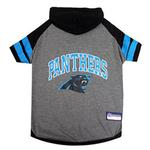 View Image 1 of Carolina Panthers Hooded Dog T-Shirt
