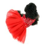 View Image 4 of Cassandra Party Dog Dress - Red