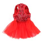 View Image 3 of Cassandra Party Dog Dress - Red