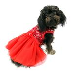 View Image 1 of Cassandra Party Dog Dress - Red