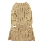 View Image 3 of Cassidy Dog Sweater Dress - Gold