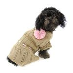 View Image 1 of Cassidy Dog Sweater Dress - Gold
