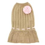 View Image 2 of Cassidy Dog Sweater Dress - Gold