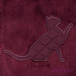 View Image 4 of Castor Cat Sweater by Catspia - Wine