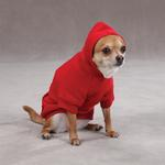 View Image 3 of Casual Canine Basic Dog Hoodie - Red