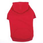 View Image 2 of Casual Canine Basic Dog Hoodie - Red