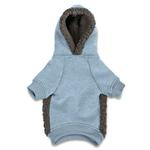 View Image 2 of Casual Canine Cozy Fleece Dog Hoodie - Blue
