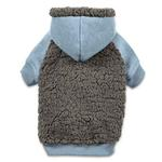 View Image 1 of Casual Canine Cozy Fleece Dog Hoodie - Blue