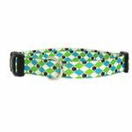 View Image 1 of Casual Canine Pooch Pattern Dog Collar - Blue Argyle