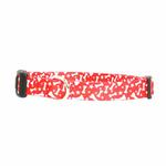 View Image 1 of Casual Canine Pooch Pattern Dog Collar - Red with Bones