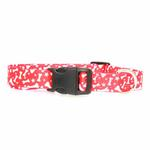 View Image 2 of Casual Canine Pooch Pattern Dog Collar - Red with Bones