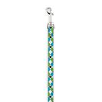 View Image 1 of Casual Canine Pooch Pattern Dog Leash - Blue Argyle