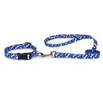 View Image 2 of Casual Canine Pooch Pattern Dog Leash - Blue Bone