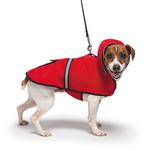 View Image 2 of Casual Canine Reflective Hooded Dog Jacket - Red
