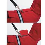 View Image 4 of Casual Canine Reflective Hooded Dog Jacket - Red