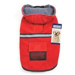 View Image 1 of Casual Canine Reflective Hooded Dog Jacket - Red