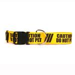 View Image 1 of Caution Dog Collar by Yellow Dog - Do Not Pet