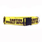 View Image 1 of Caution Dog Collar by Yellow Dog - Visually Impaired
