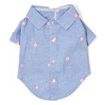 View Image 1 of Chambray Pig Dog Shirt by Worthy Dog