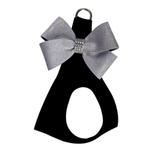View Image 1 of Platinum Glitzerati Nouveau Bow Step-In Dog Harness by Susan Lanci - Black