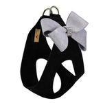View Image 2 of Platinum Glitzerati Nouveau Bow Step-In Dog Harness by Susan Lanci - Black
