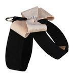 View Image 2 of Champagne Glitzerati Nouveau Bow Tinkie Dog Harness by Susan Lanci - Black