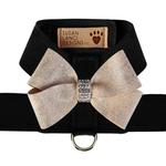 View Image 1 of Champagne Glitzerati Nouveau Bow Tinkie Dog Harness by Susan Lanci - Black