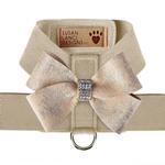 View Image 1 of Champagne Glitzerati Nouveau Bow Tinkie Dog Harness by Susan Lanci - Doe