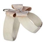 View Image 2 of Champagne Glitzerati Nouveau Bow Tinkie Dog Harness by Susan Lanci - Doe