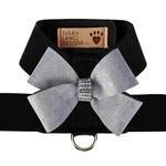 View Image 1 of Platinum Glitzerati Nouveau Bow Tinkie Dog Harness by Susan Lanci - Black