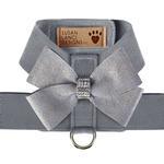 View Image 1 of Platinum Glitzerati Nouveau Bow Tinkie Dog Harness by Susan Lanci - Platinum