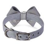 View Image 2 of Platinum Glizerati Nouveau Bow Luxury Dog Collar by Susan Lanci - Platinum