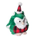 View Image 1 of Charming Christmas Hoots Dog Toy - Green